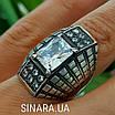 Крупный серебряный перстень с камнями - Стильное серебряное кольцо с чернением и камнями, фото 5