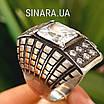 Крупный серебряный перстень с камнями - Стильное серебряное кольцо с чернением и камнями, фото 2