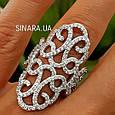 Эксклюзивное роскошное серебряное кольцо Стелла, фото 6