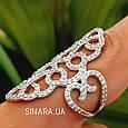 Эксклюзивное роскошное серебряное кольцо Стелла, фото 7