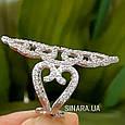 Эксклюзивное роскошное серебряное кольцо Стелла, фото 4