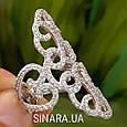 Эксклюзивное роскошное серебряное кольцо Стелла, фото 2