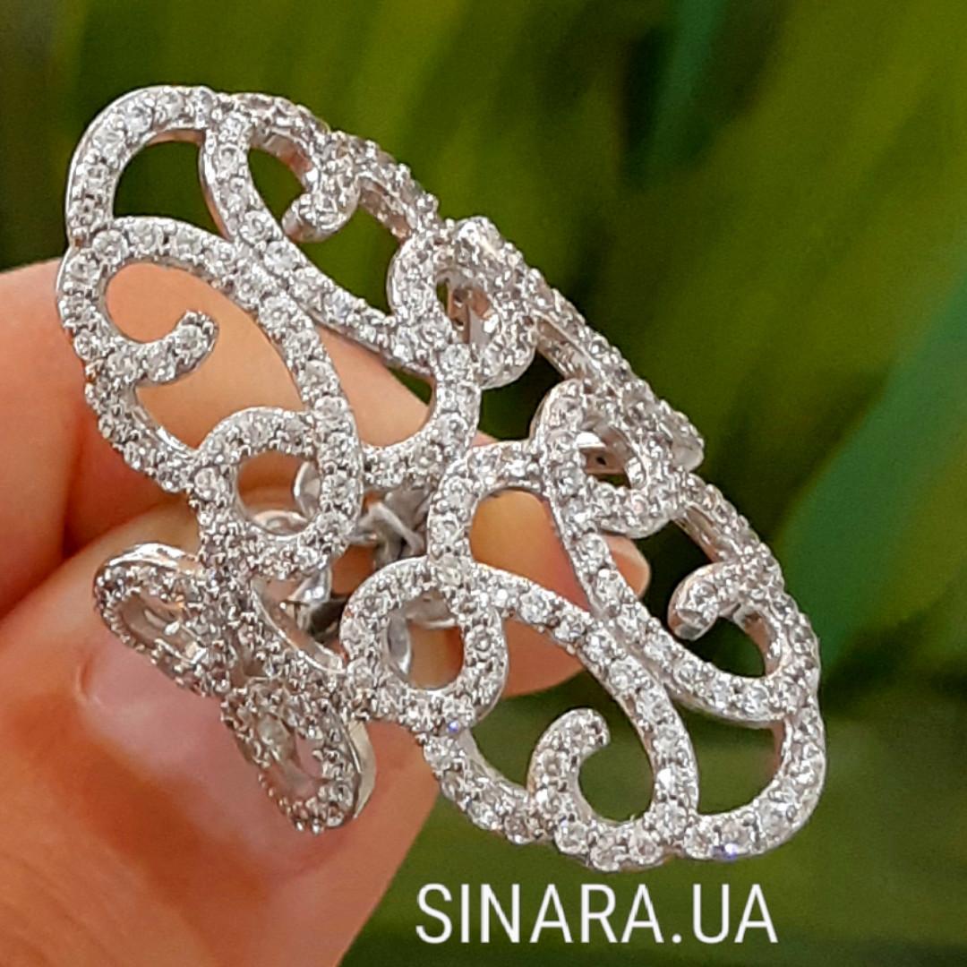 Эксклюзивное роскошное серебряное кольцо Стелла