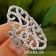 Эксклюзивное роскошное серебряное кольцо Стелла, фото 5