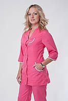Женский медицинский костюм розовый 40-56