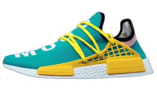 "Мужские кроссовки Adidas x Pharrell Williams Human Race NMD ""Multicolored"" (в стиле Адидас )"