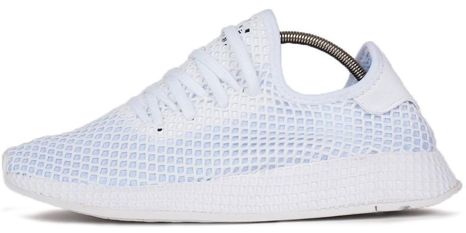 Мужские кроссовки Adidas DEERUPT RUNNER White (в стиле Адидас )
