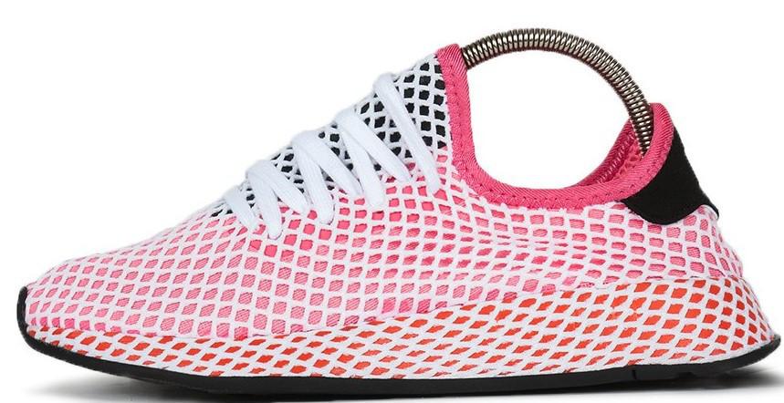 Мужские кроссовки Adidas DEERUPT RUNNER PINK (в стиле Адидас )