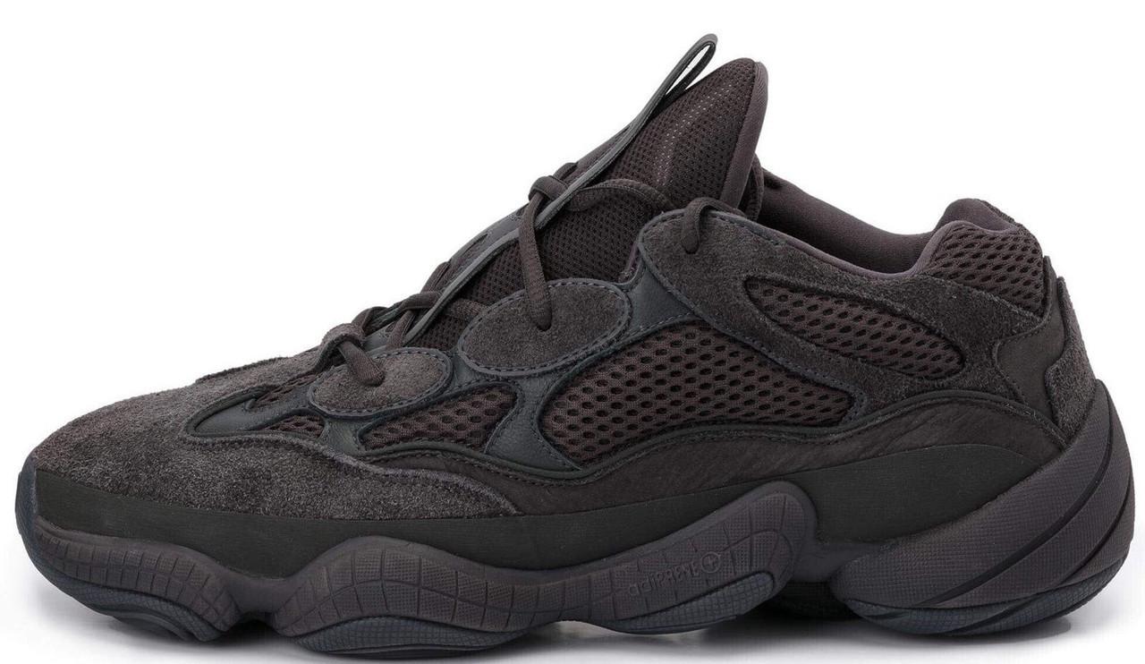 Мужские кроссовки Adidas Yeezy 500 Utility Black (в стиле Адидас )