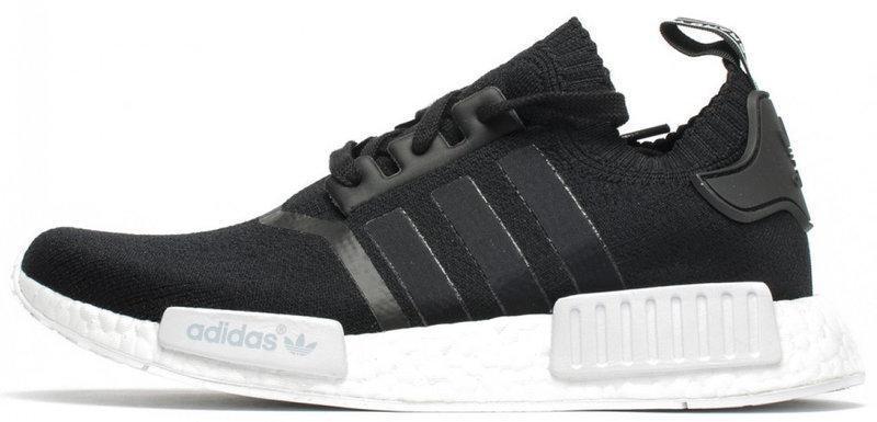 """Мужские кроссовки Adidas NMD R1 Runner Primeknit """"Core Black""""  (в стиле Адидас )"""