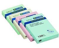 Блок бумаги для заметок липкий слой Buromax 51x76мм 100л ассорти цветов BM.2311-99