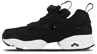 Мужские кроссовки Reebok Insta Pump Fury Black White (в стиле Рибок ИнстаПамп)