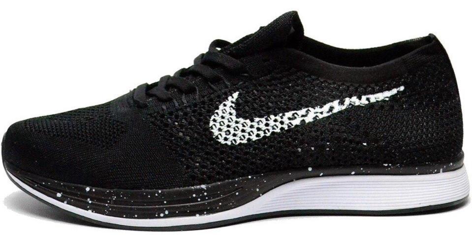 Мужские кроссовки Nike Flyknit Racer Black (в стиле Найк )