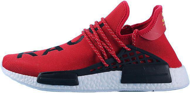 "Мужские кроссовки Adidas x Pharrell Williams Human Race NMD ""Red/Black/White"" (в стиле Адидас )"