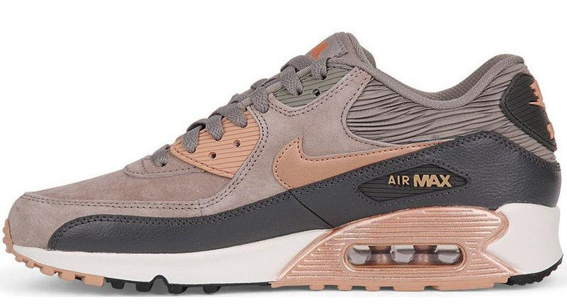 "Женские кроссовки Nike Air Max 90 ""Iron\Red Bronze""(в стиле Найк)"