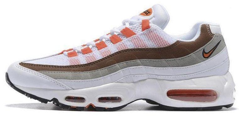 """Женские кроссовки Nike Air Max 95 """"White\Brown""""(в стиле Найк)"""