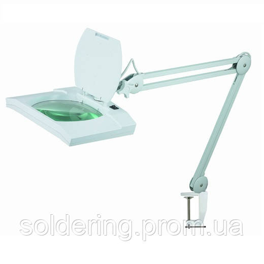 Лампа-лупа косметологическая с LED подсветкой на струбцине 5X увеличение 8069L