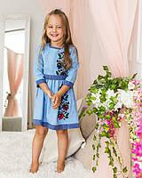 Детское платье вышиванка с цветочным орнаментом Мальвы