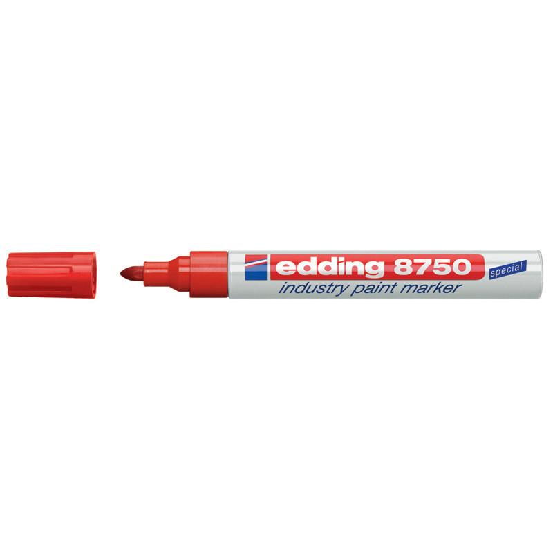 Маркер лаковый промышленный Industry Paint Edding 2-4мм красный e-8750/02