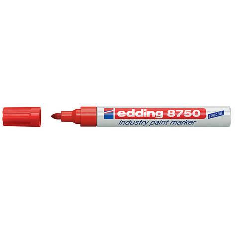 Маркер лаковый промышленный Industry Paint Edding 2-4мм красный e-8750/02, фото 2