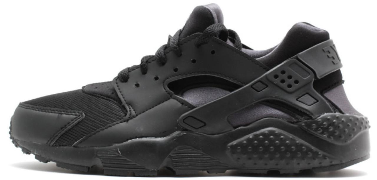 """Женские кроссовки Nike Huarache Triple """"Black"""" ( в стиле Найк )"""