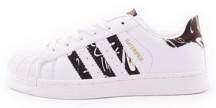"""Женские кроссовки Adidas Superstar """"White/Black"""" (в стиле Адидас )"""
