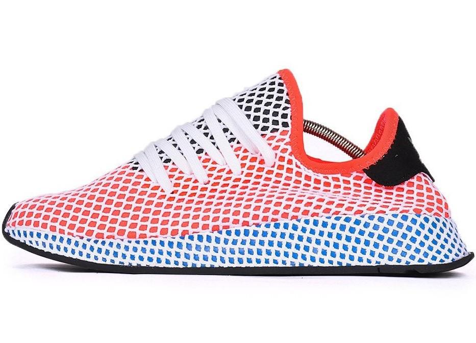 Женские кроссовки Adidas DEERUPT RUNNER Red White (в стиле Адидас )