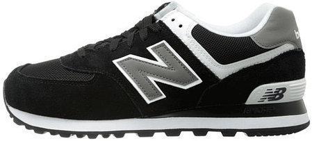 """Женские кроссовки New Balance 574 """"Black/gray"""" (в стиле Нью Баланс)"""