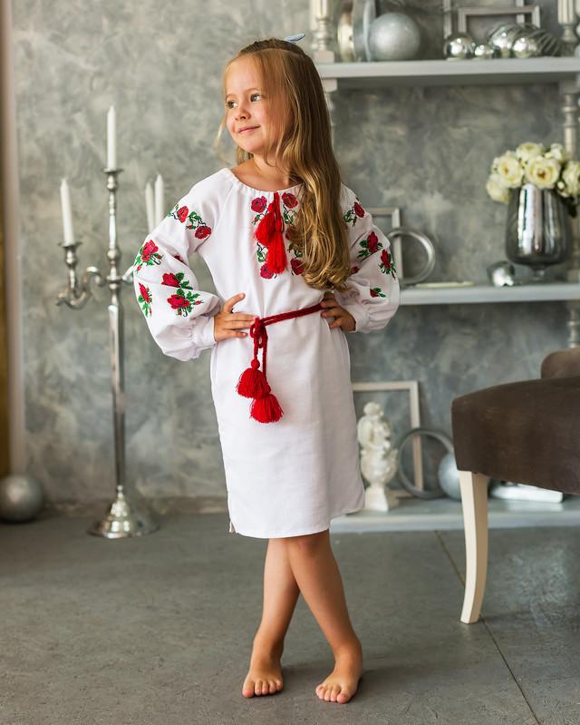 """Сукня вишиванка для дівчинки """"Трояндочка"""""""