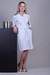 Жіночий медичний халат білий 40-52