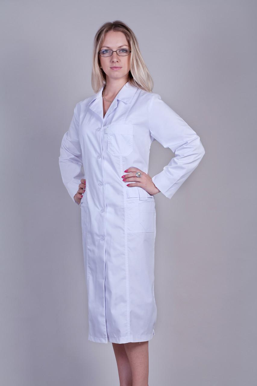 Жіночий медичний халат білий 46-66