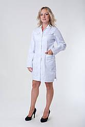 Жіночий медичний халат білий 40-50