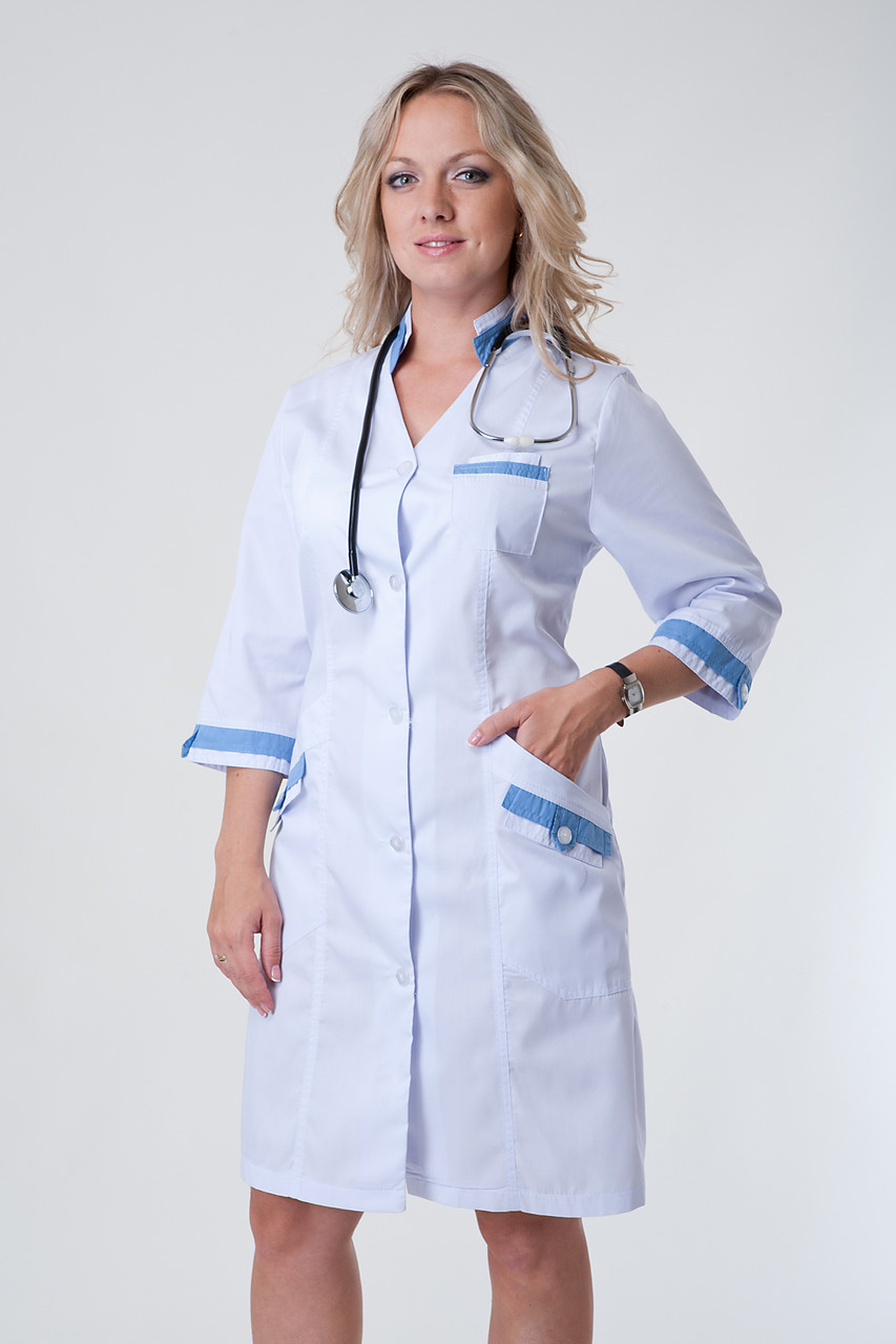 Женский медицинский халат белый 40,42