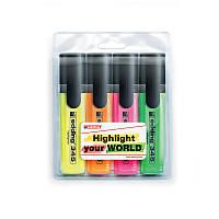 Маркер текстовыделитель Highlighter Edding 2-5 мм скошенный набор 4шт e-345/4/SE