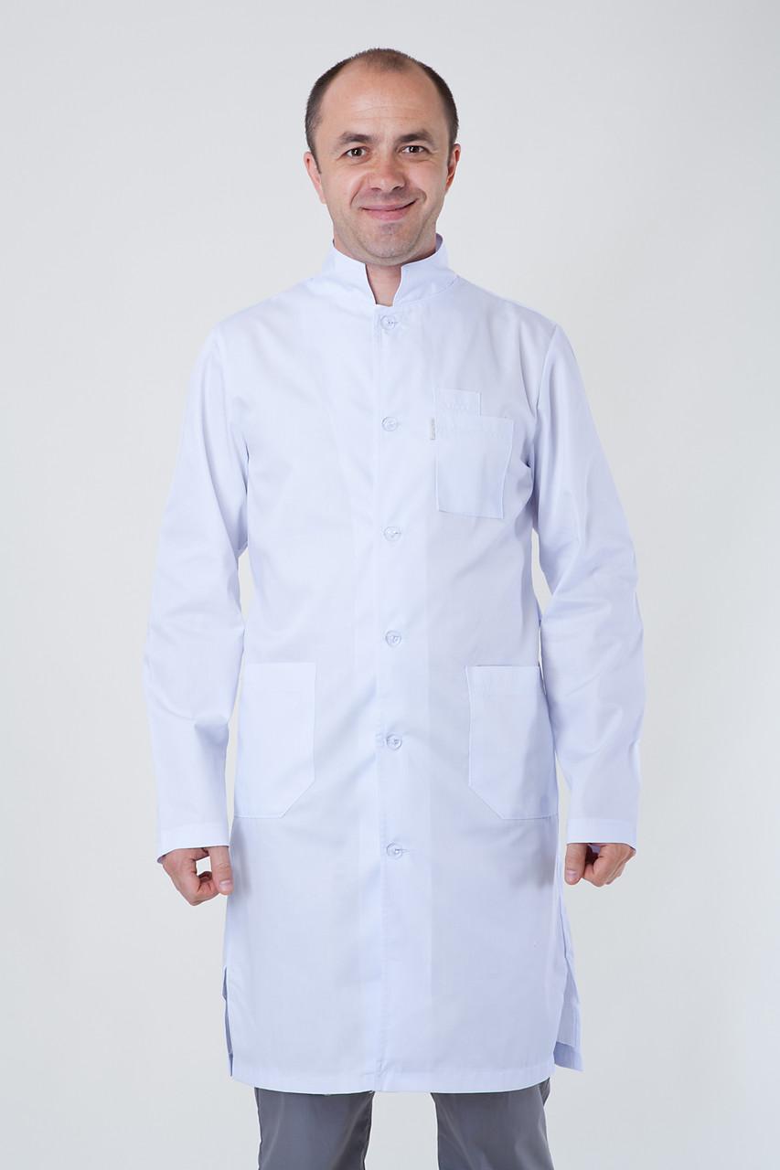 Мужской медицинский халат белый . 40-54