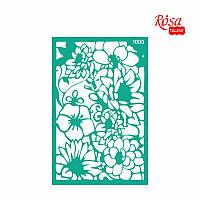 Трафарет многоразовый самоклеющийся Фоновый 13x20 см №1000 Серия Цветы