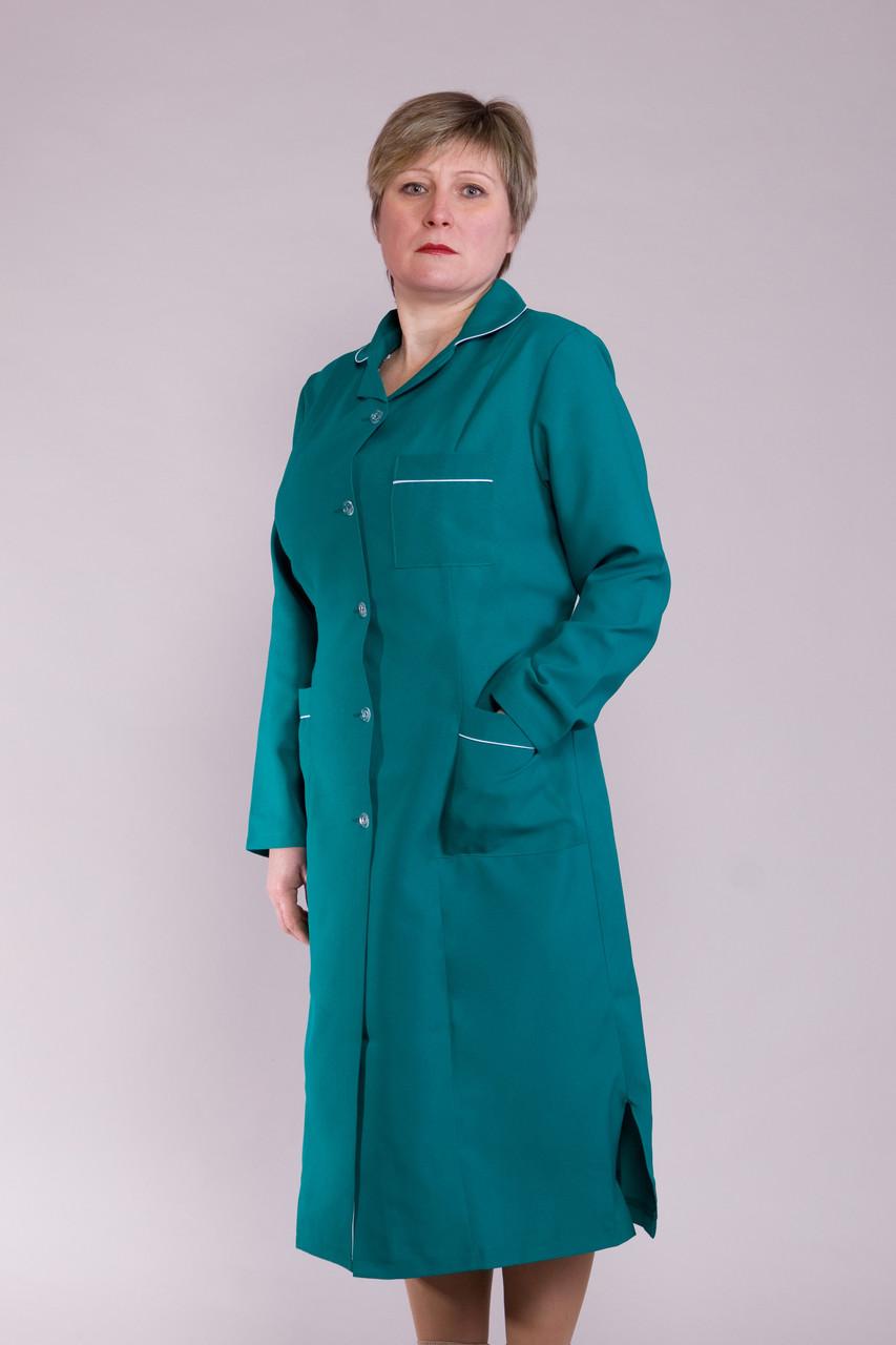 Женский медицинский халат зеленый 46-66