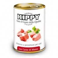 KIPPY консервированный корм для собак с кусочками мяса говядины (паштет), 400г