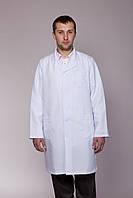 Мужской медицинский халат белый 40-60