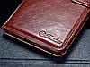 Кожаный чехол-книжка для Huawei P9 коричневый, фото 3