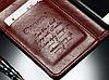 Кожаный чехол-книжка для Huawei P9 коричневый, фото 4