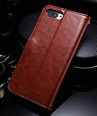 Кожаный чехол-книжка для Huawei Honor 10 черный, фото 2