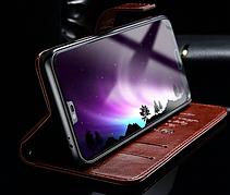 Кожаный чехол-книжка для Huawei Honor 10 черный, фото 3