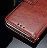 Кожаный чехол-книжка для Huawei Honor 10 черный, фото 4