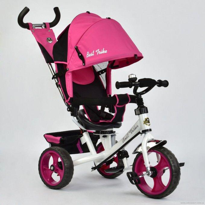 Велосипед 3-х колёс. 5700 - 3980 Best Trike (1) РОЗОВЫЙ, ПОВОРОТНОЕ СИ