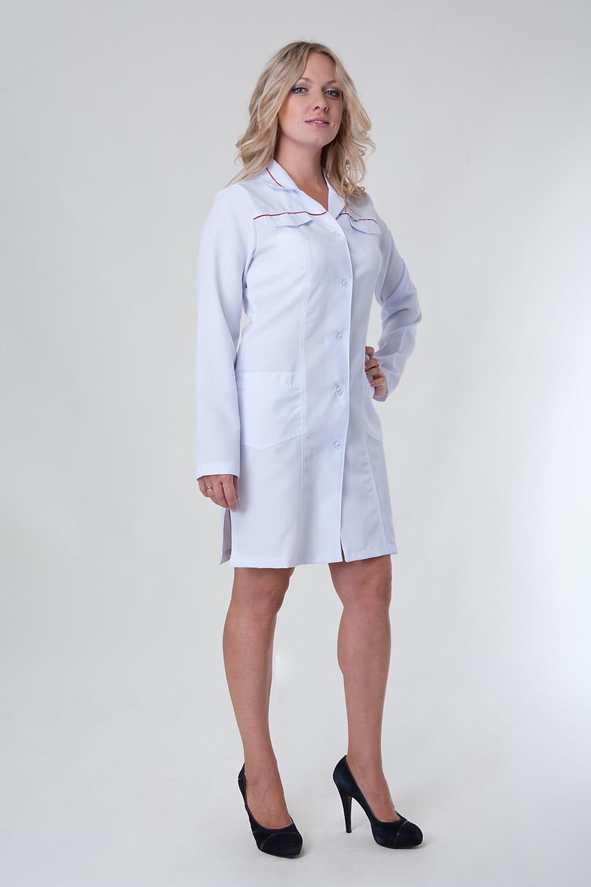 Женский медицинский халат белый 40-52