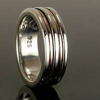 Серебряное обручальное кольцо для мужчин от WickerRing
