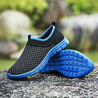 Весенне-летние кроссовки в 3 цветах Синий 43