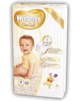 Подгузники Хаггис Huggies Элит Софт 4 (8-14кг) 66шт.