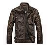 Мужская демисезонная кожаная куртка. Арт.А1005
